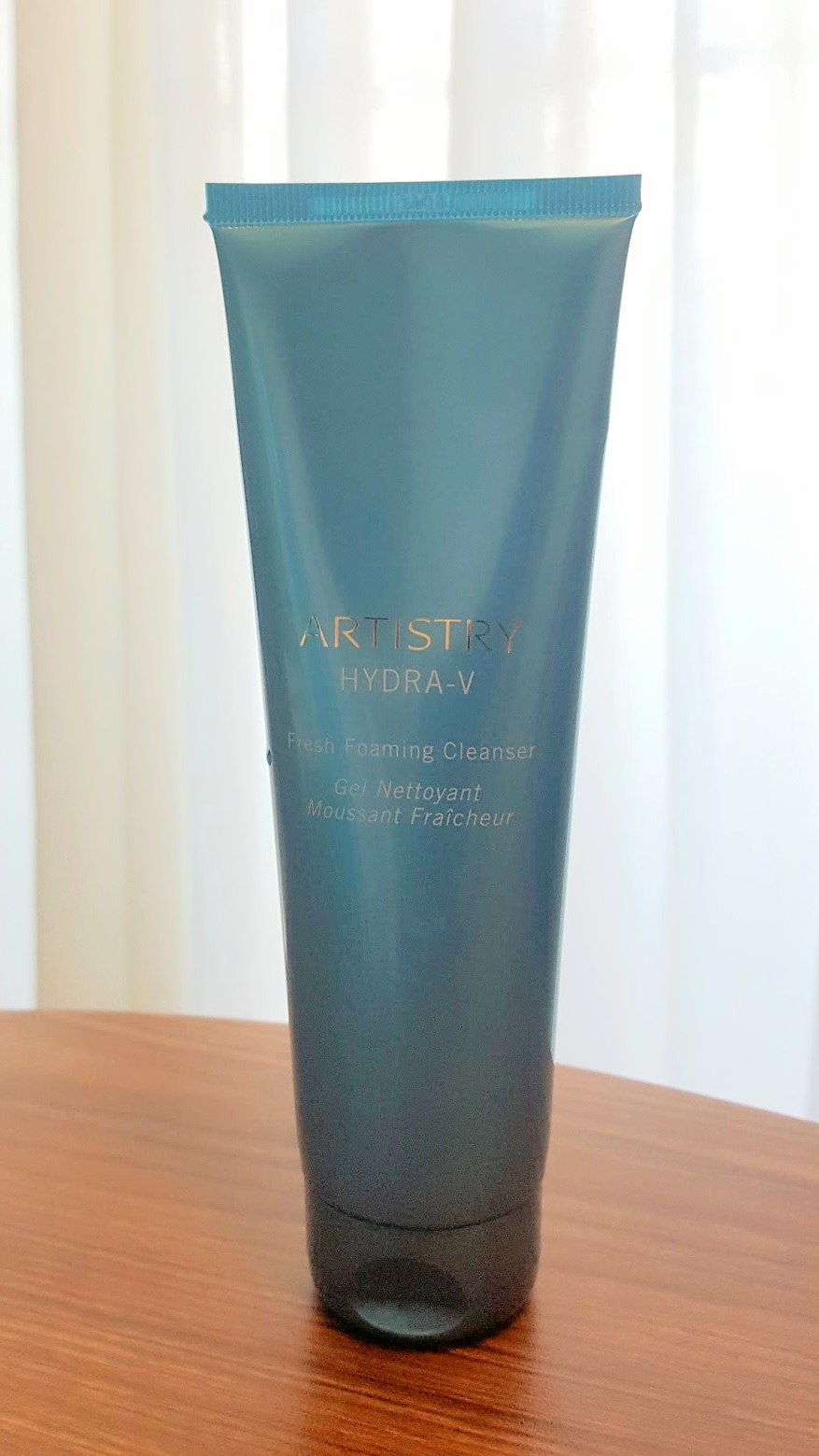 My everyday cleanser is the Artistry Hydra-V Foaming Cleanser…. I love it! I have combination skin and this cleanser helps remove dirt, oil, and makeup. I use it with a facial cleansing brush every day, both day and night.