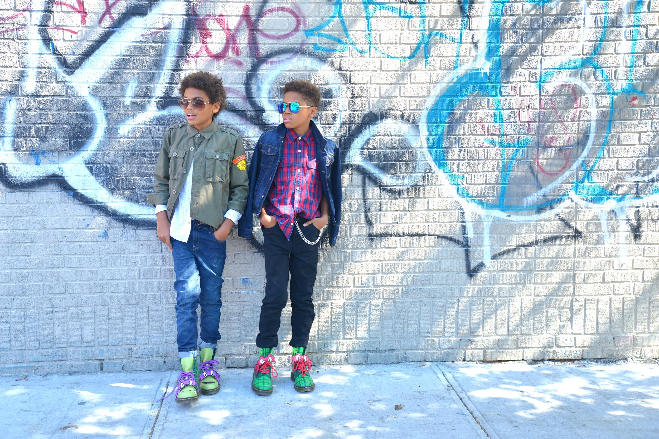 TRISTIN  Gap Jacket/Zara Shirt/Children's Place Jeans   TYLER  Gap Shirt/Gap Jacket/Children's Place Jeans