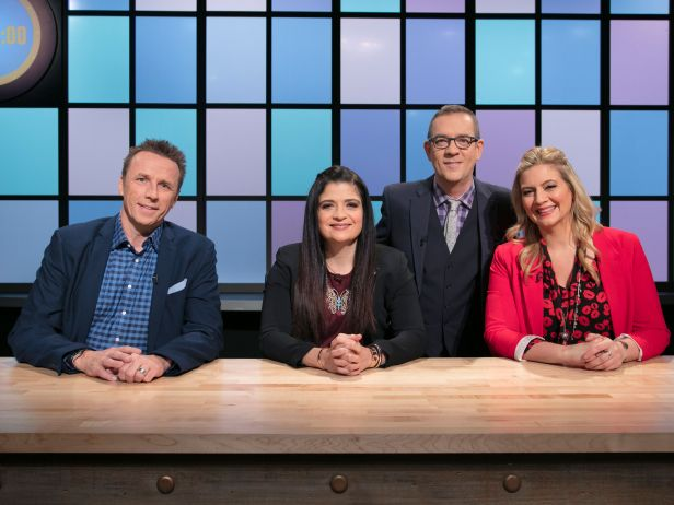 Left to Right: CHEFS: Marc Murphy, Alex Guarnaschelli, Ted Allen and Amanda Freitag