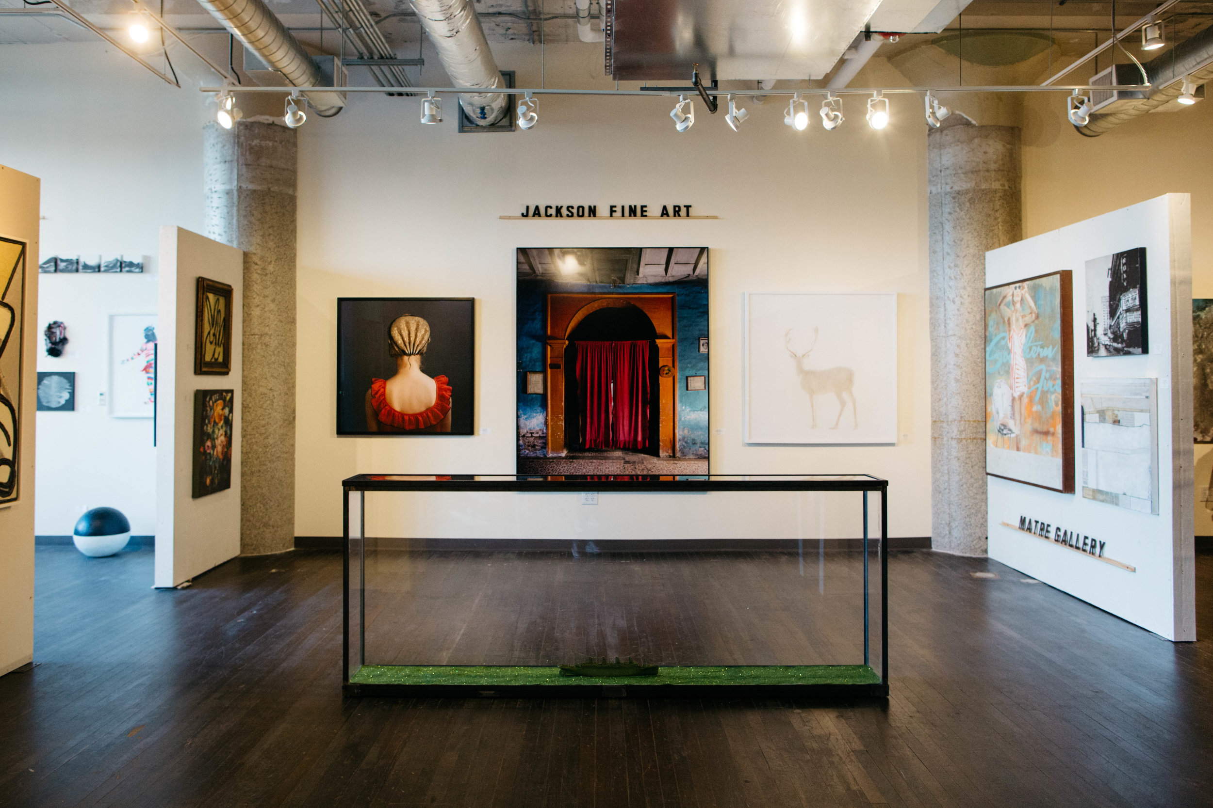 Exhibits rotated frequently inside the gallery to continue renewed interest in the space.