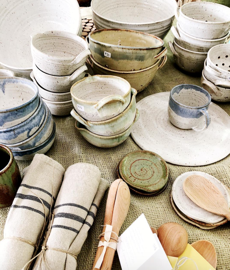 Mollie Jenkins Pottery was a favorite of the Cashiers Designer Showhouse vendors. Photo: jessgraves.com