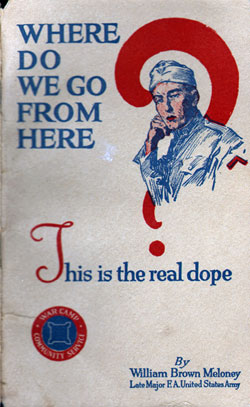 Cover from publication for returning veterans.