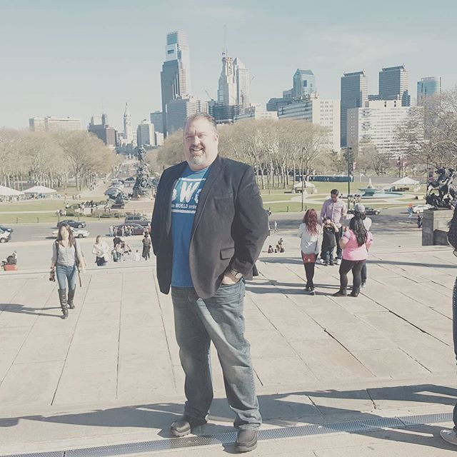 Top of the Rocky steps