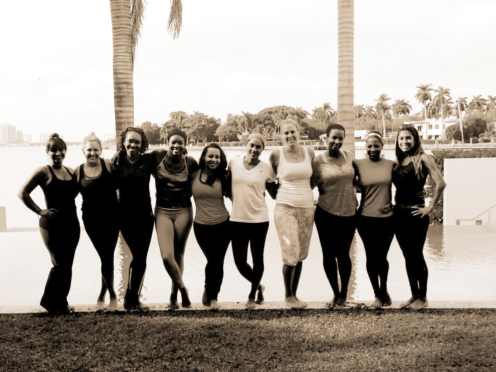 Miami Heat Wives & Girlfriends Bond Over Yoga Articl  e     ( Click On the Picture )