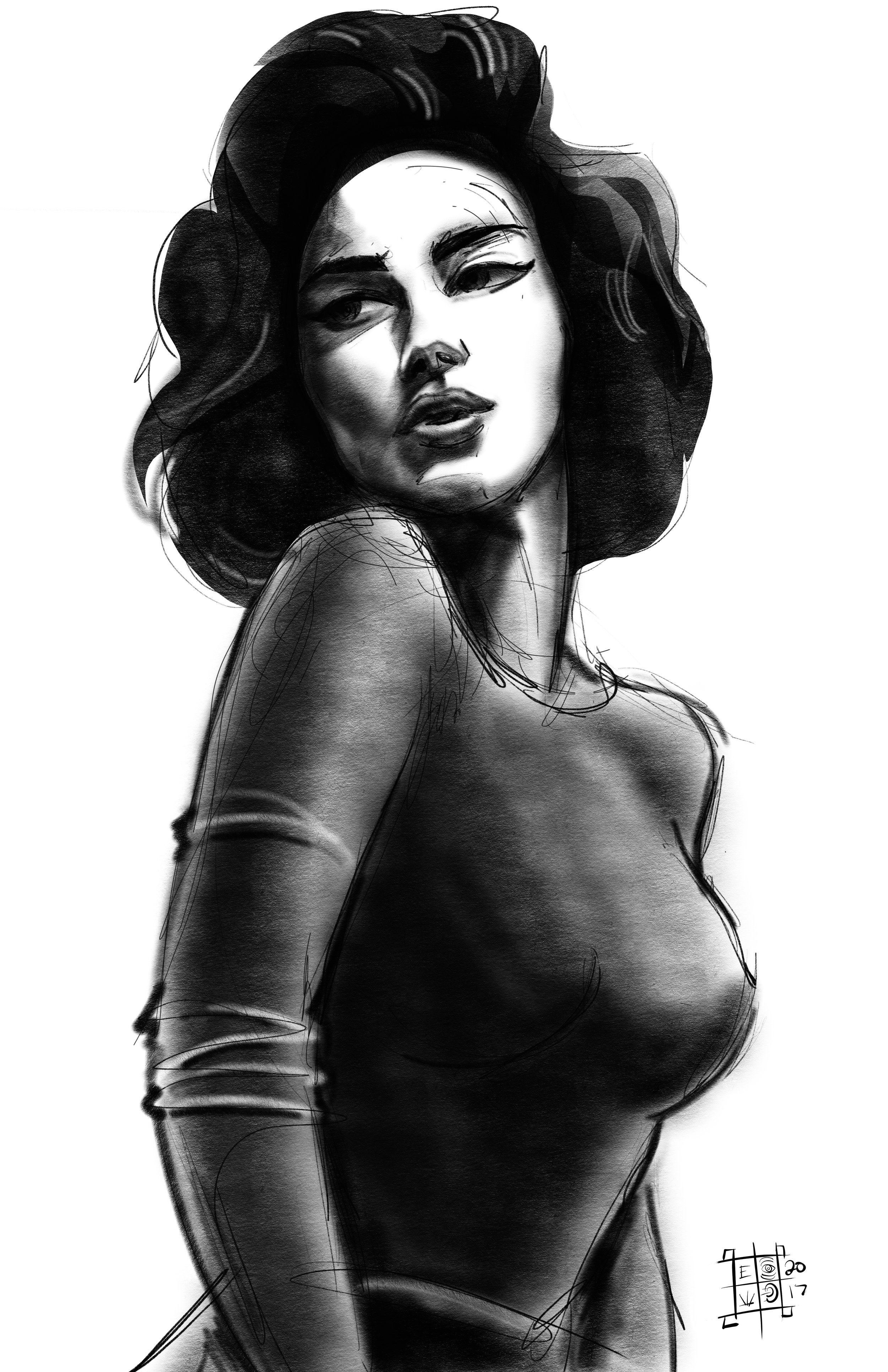 sultry pinup