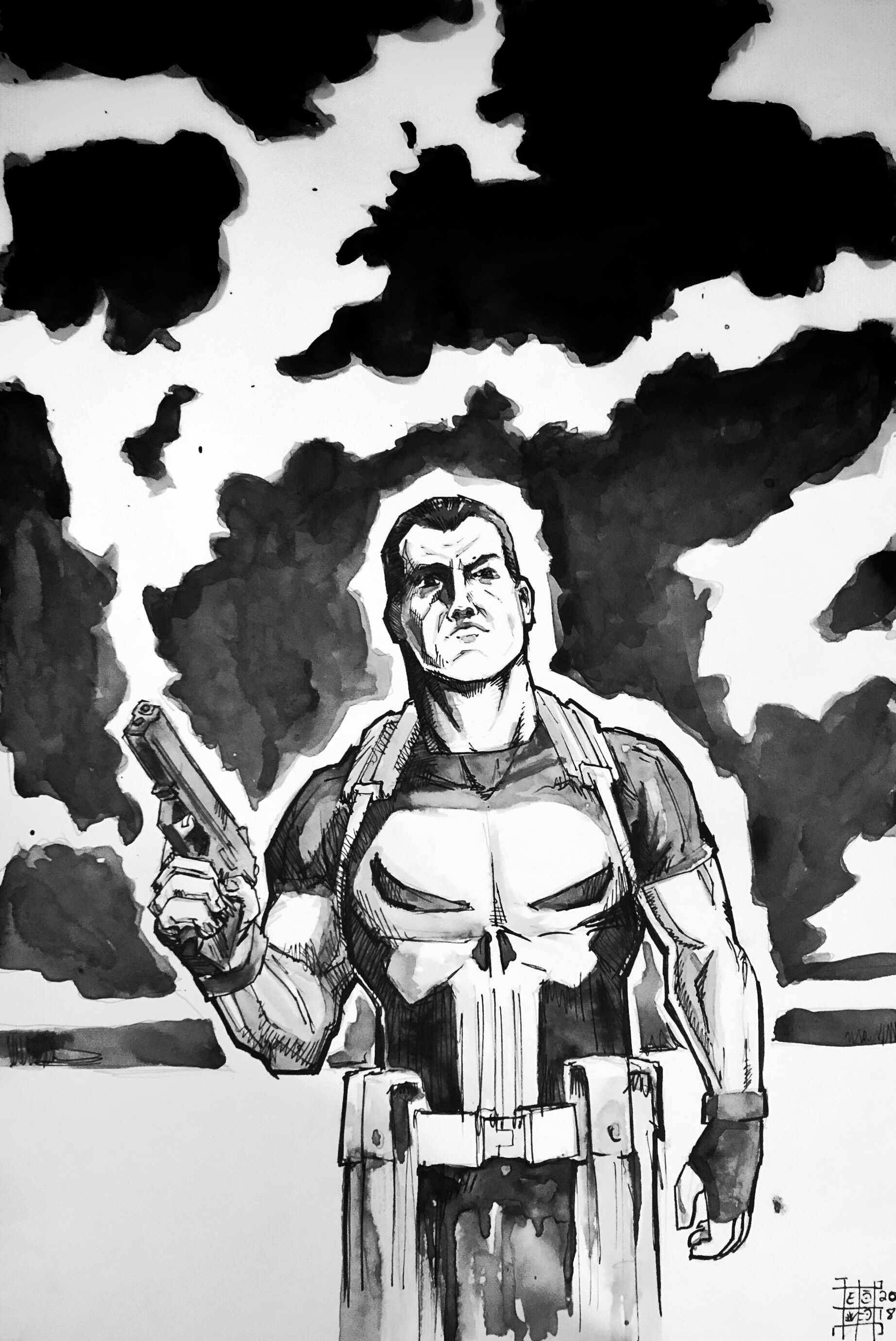 punisher ink wash