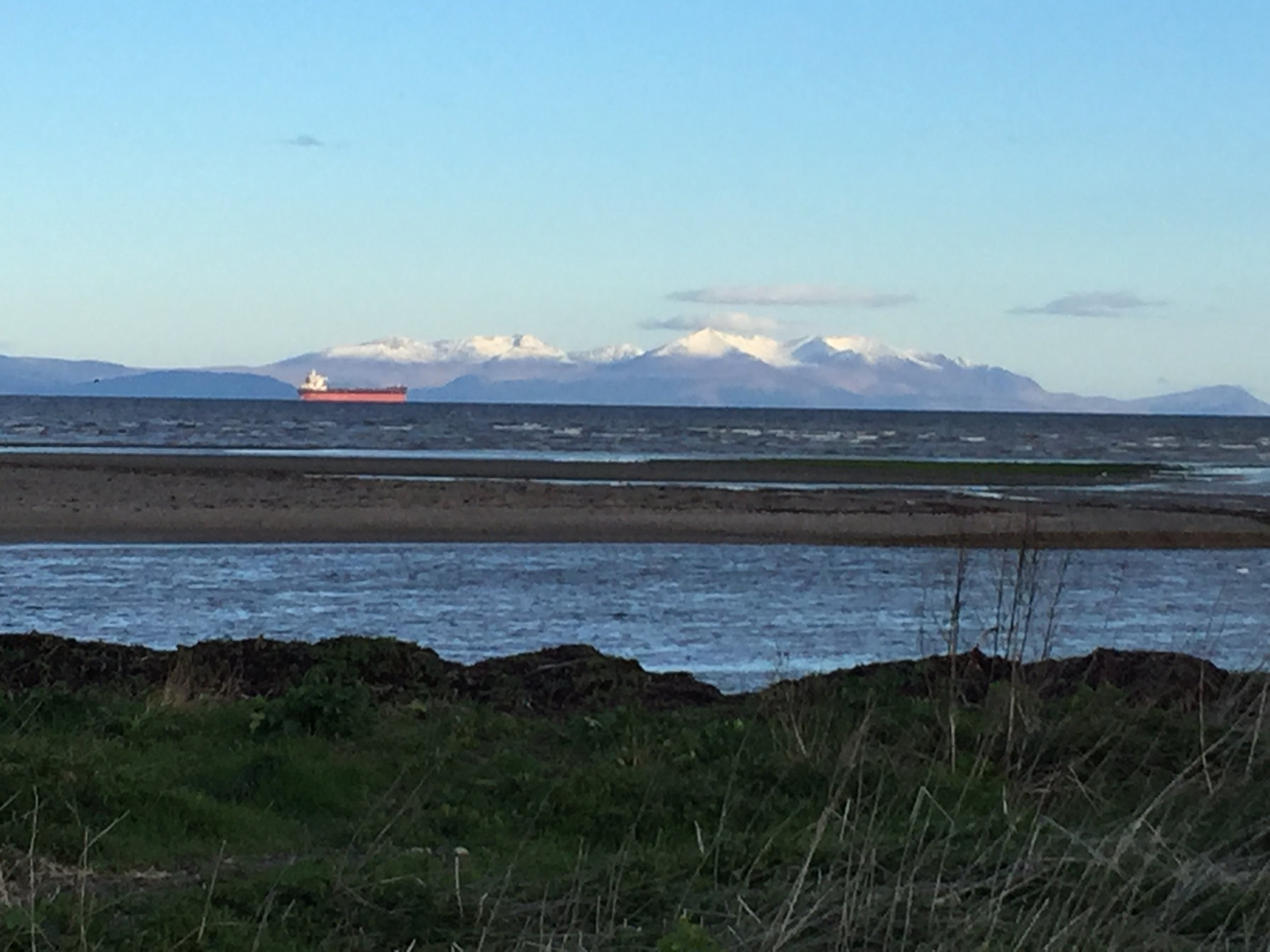 Snow capped peaks of Arran