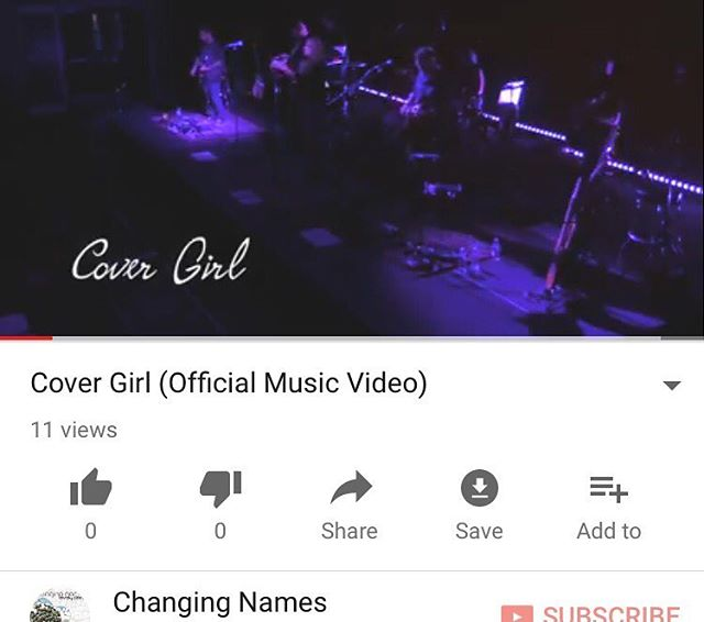 It's technically Saturday morning already, so.... go ch-ch-check out our new #covergirlvid!  Link in our bio gets you to our YouTube channel where you can watch, subscribe, like, & share to your hears content!  #newmusicvideo