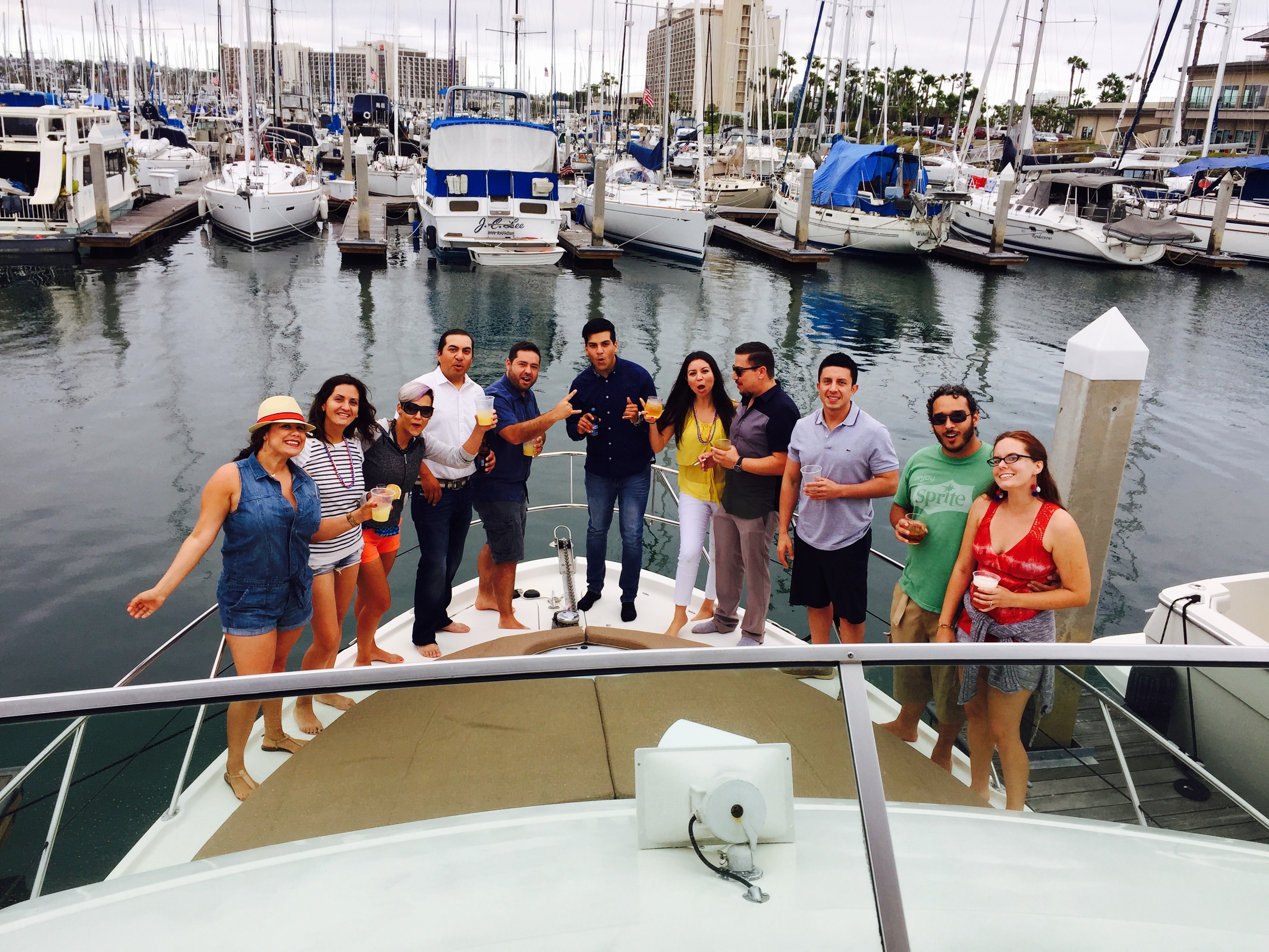 Powerboat charters aboard san diego yacht charters Mai Tai