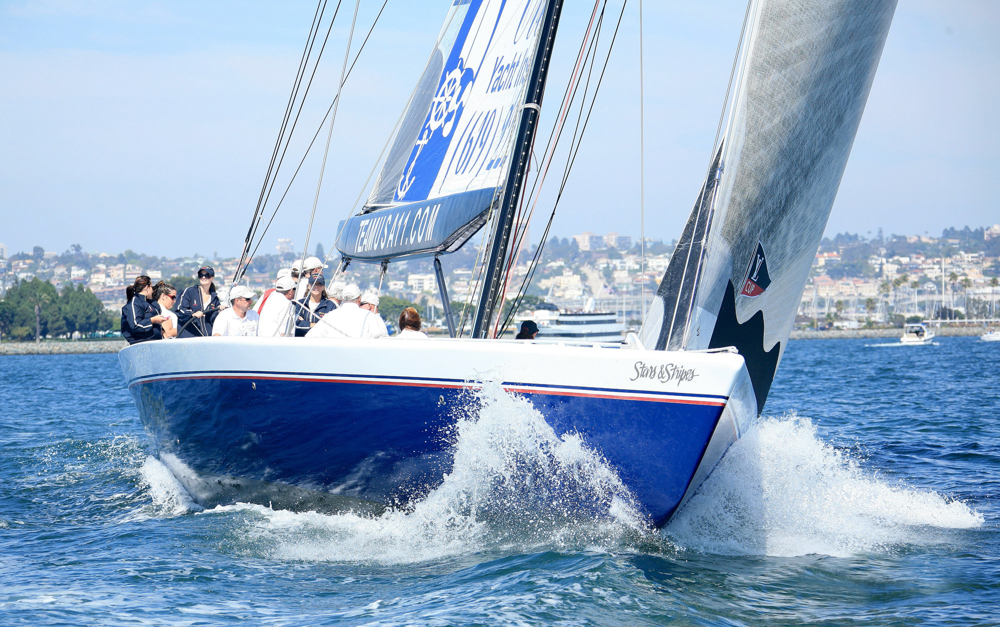 The Most EXCITING Sailing Experience on the LARGEST and FASTEST sailboat on San Diego Bay