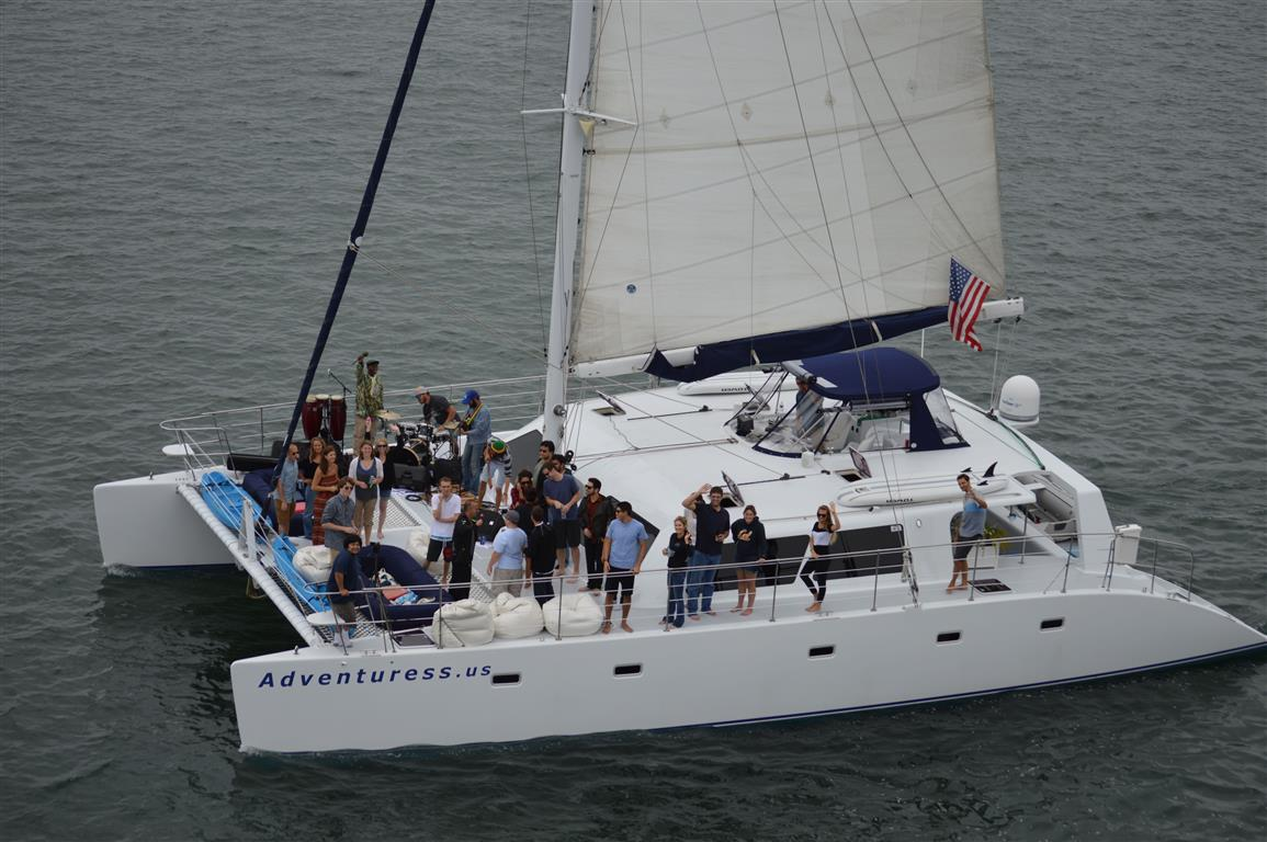 sailing yacht charters aboard Adventuress sailing catamaran
