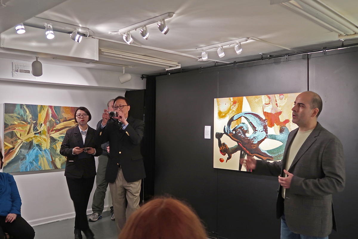 What a great opportunity to give an artists talk at the Gallery. Thank you Edward Fong!