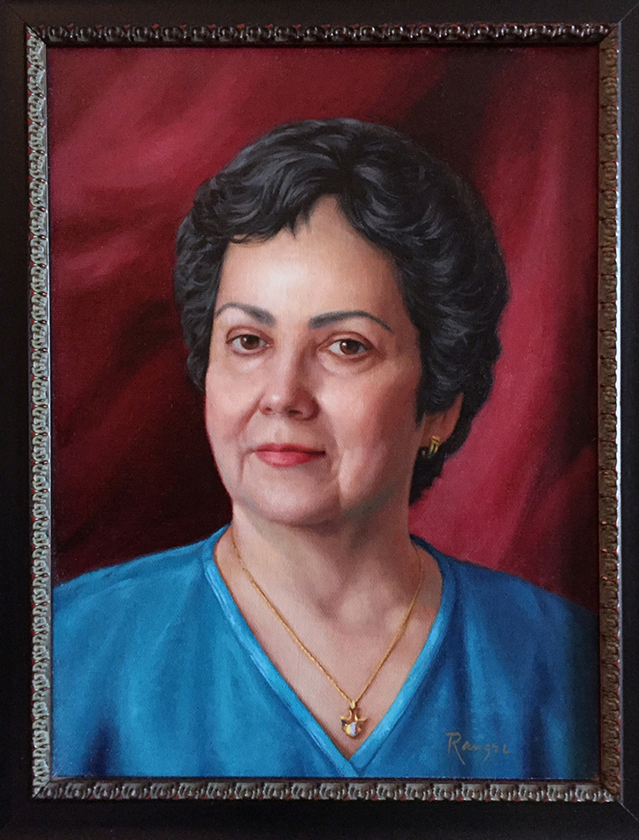 Oil on canvas. Portrait commission.