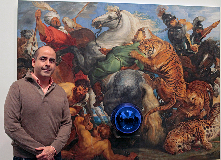 We re-created 50 old master paintings for Jeff Koons Gazing ball Exhibition at Gagosian Gallery 2013.