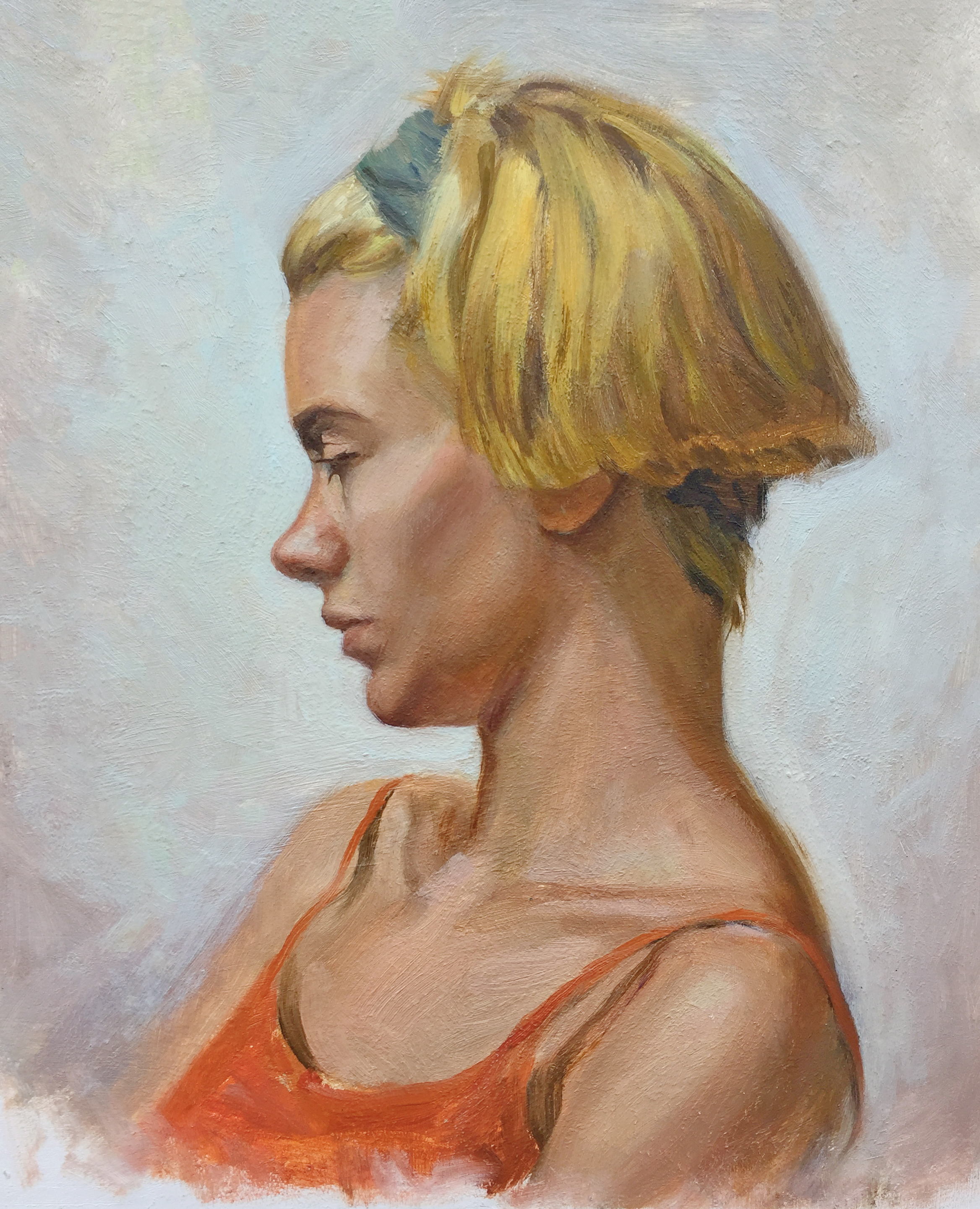 Life Study, Oil on board