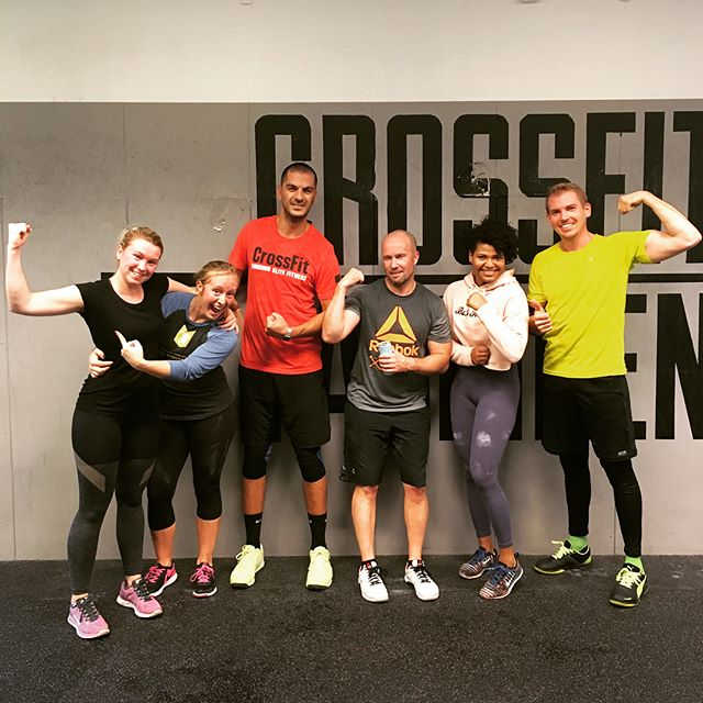45min strength endurance partner wod at the new @crossfitfabrikenlomma 🇸🇪Thanks to @albinannellsson for hosting us! . See second picture for wod . #vikings 🏋️♀️⚔️