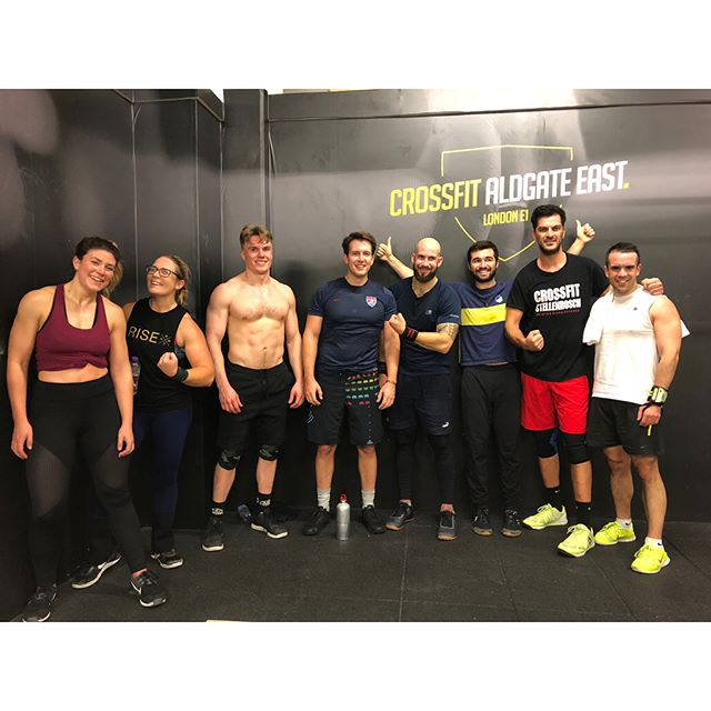 New box in East London: @crossfit_aldgate East! . Really nice community in a very well made box! Thanks for having us guys :) Swipe for workout 🏋️ . #crossfit