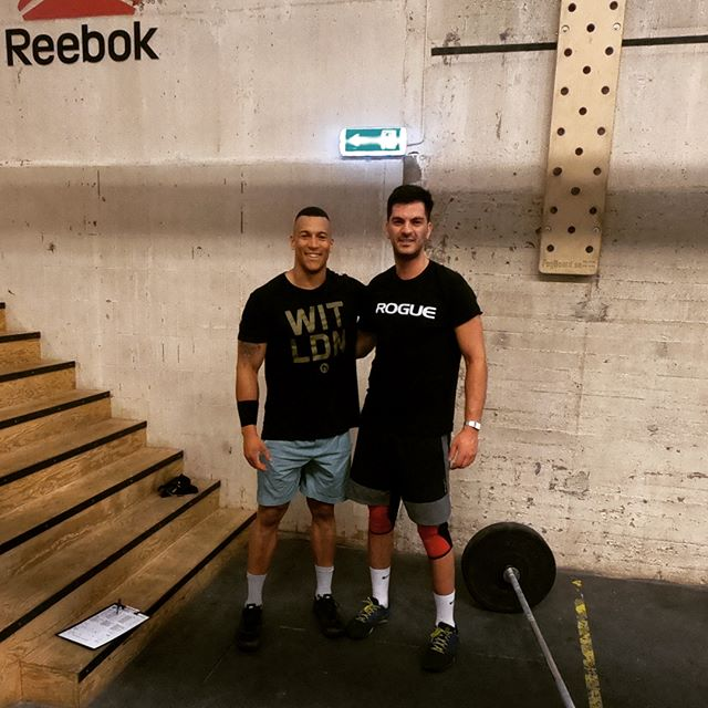 Great to meet @shorunke for 18.3 at @crossfitsolid . Best of luck with the rest of your @crossfitgames season! 👊 . #crossfit #18point3