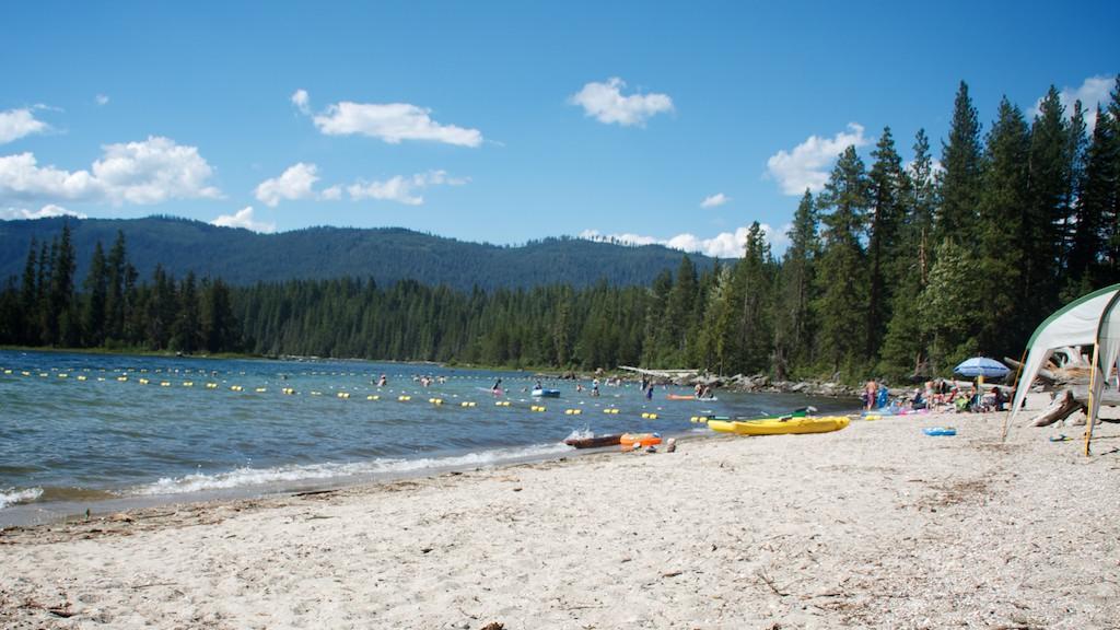 Lake Wenatchee beach