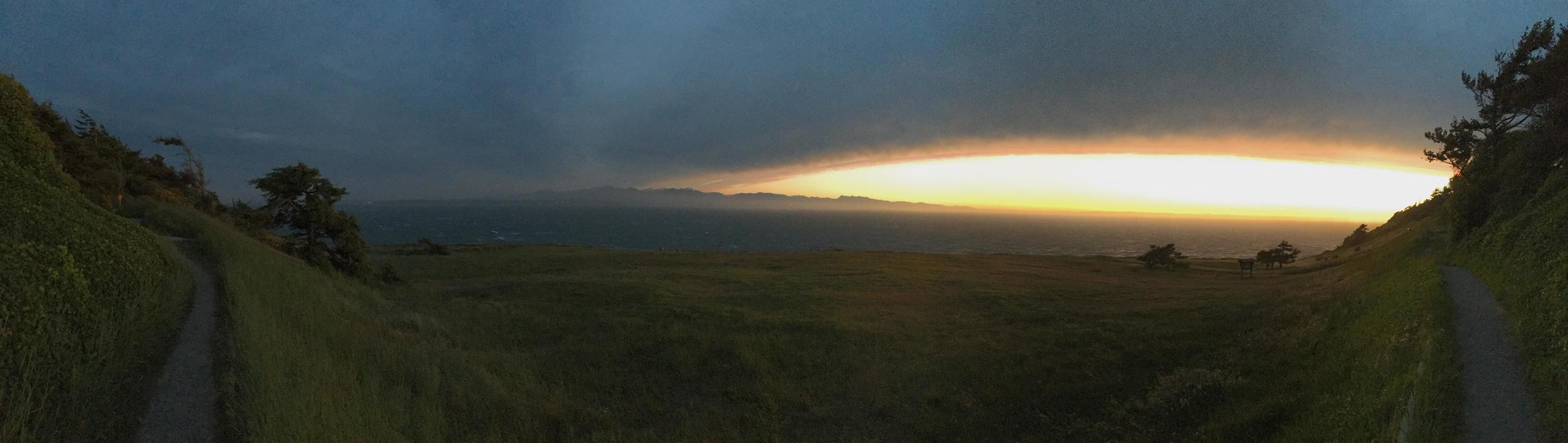 Sunset at Fort Ebey bluff