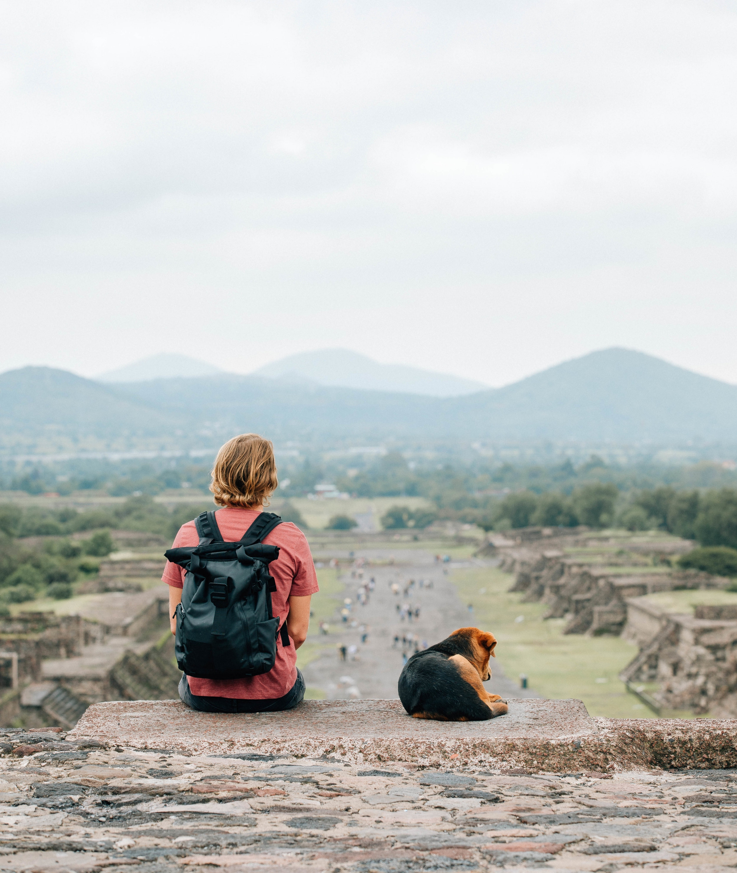 Teotihuacan with the local pup.