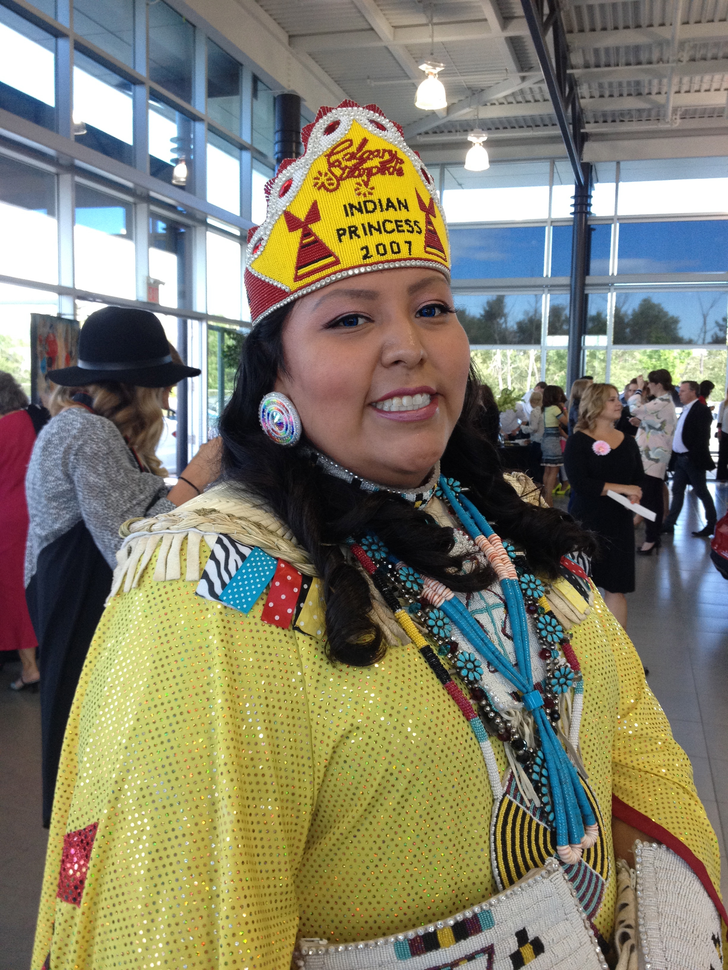 During a chat with Livia Manywounds, Calgary Stampede Indian Princess 2007, now filmmaker and businesswoman.
