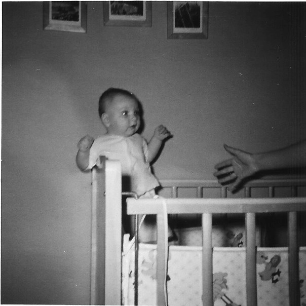 """My mother always thought this photo of me was so funny. """"A baby, trying to get away from its mother! See how scared she looks?"""" she would say, laughing every time she showed it to her friends. """"You were so fat and ugly,"""" she would tell me. """"When we adopted you,   I hoped no one would want to come and see you,  I asked your dad if we had to tell anyone about you until you looked better."""" She laughed about that, too."""