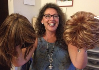Flo, with her gorgeous natural brown curls and two of her temporary 'pals' from days gone by