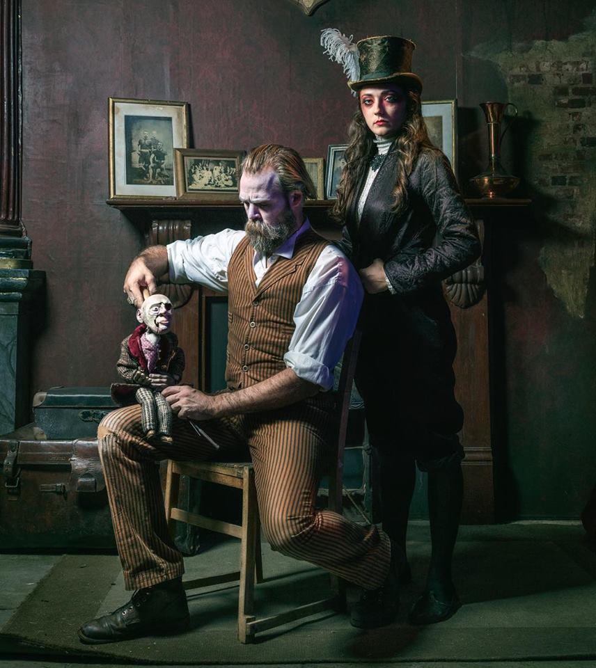 Henry Maynard and Jordan Cooper as 'The Master' and Elizabeth