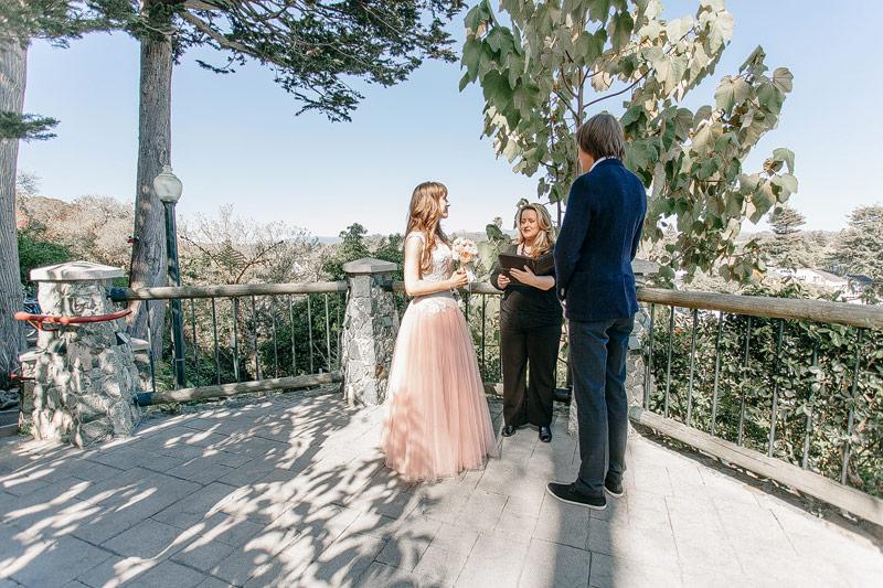 Santa Cruz California wedding ceremony