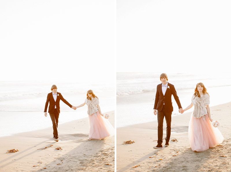Santa Cruz beach wedding photos