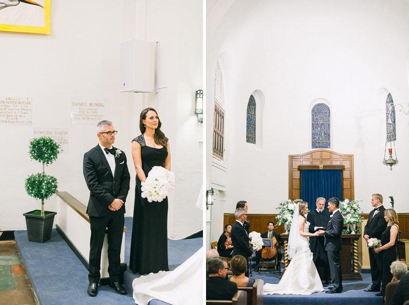 Wedding photos Presidio chapel san francisco