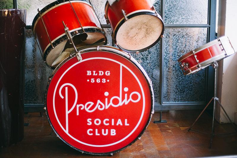 Presidio social club wedding photographer