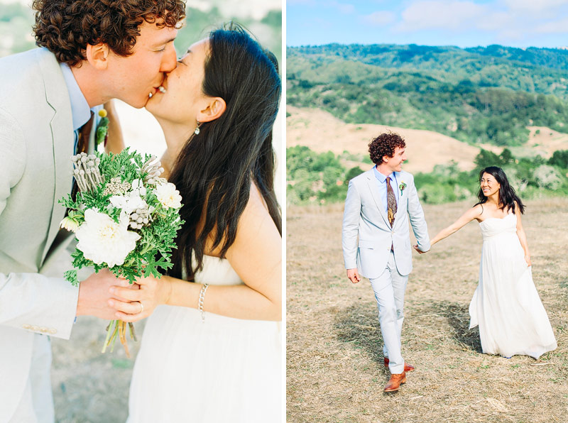 Mann Family Farm Bolinas Wedding Ceremony Photos