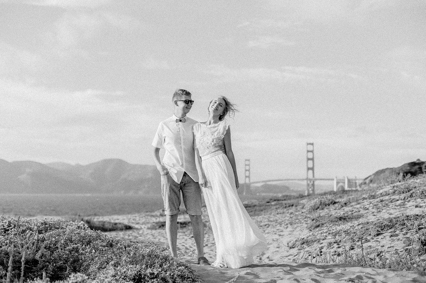 Golden Gate Bridge Engagement Photos