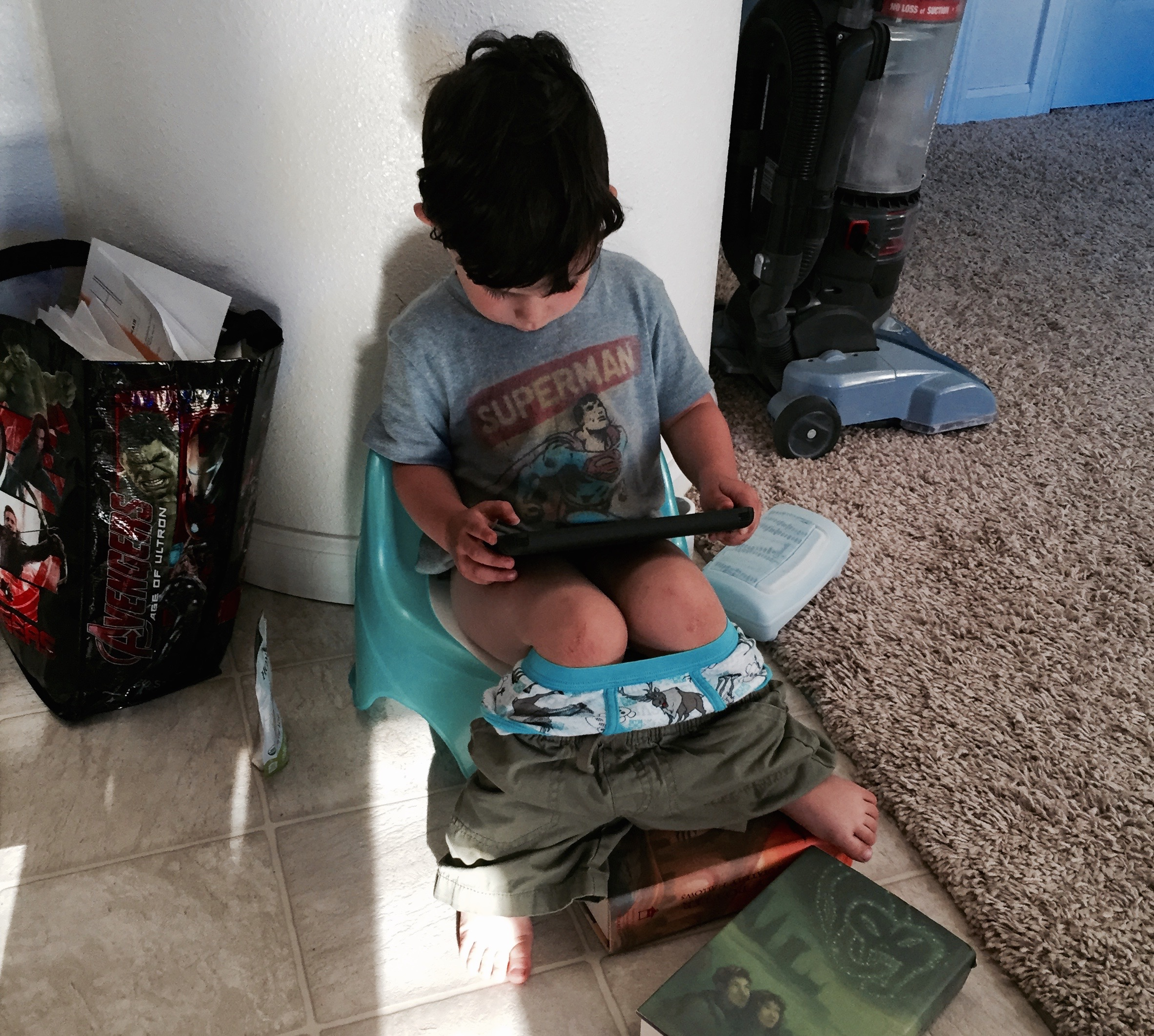 Big boy training - I'm referring to the iPad on the potty more than just the potty training.