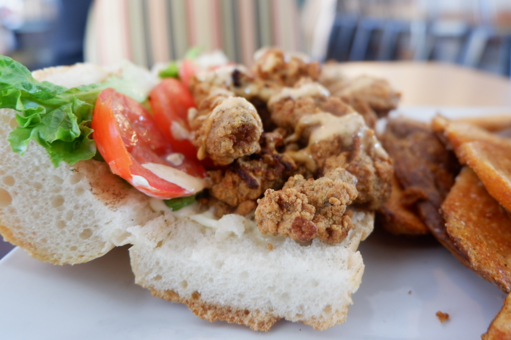 Oyster po'boy from The Munch Factory.