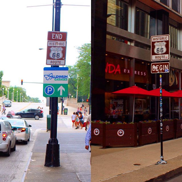 Made it to Chicago yesterday, to see the beginning and end of Route 66! #saveroute66 #chicago