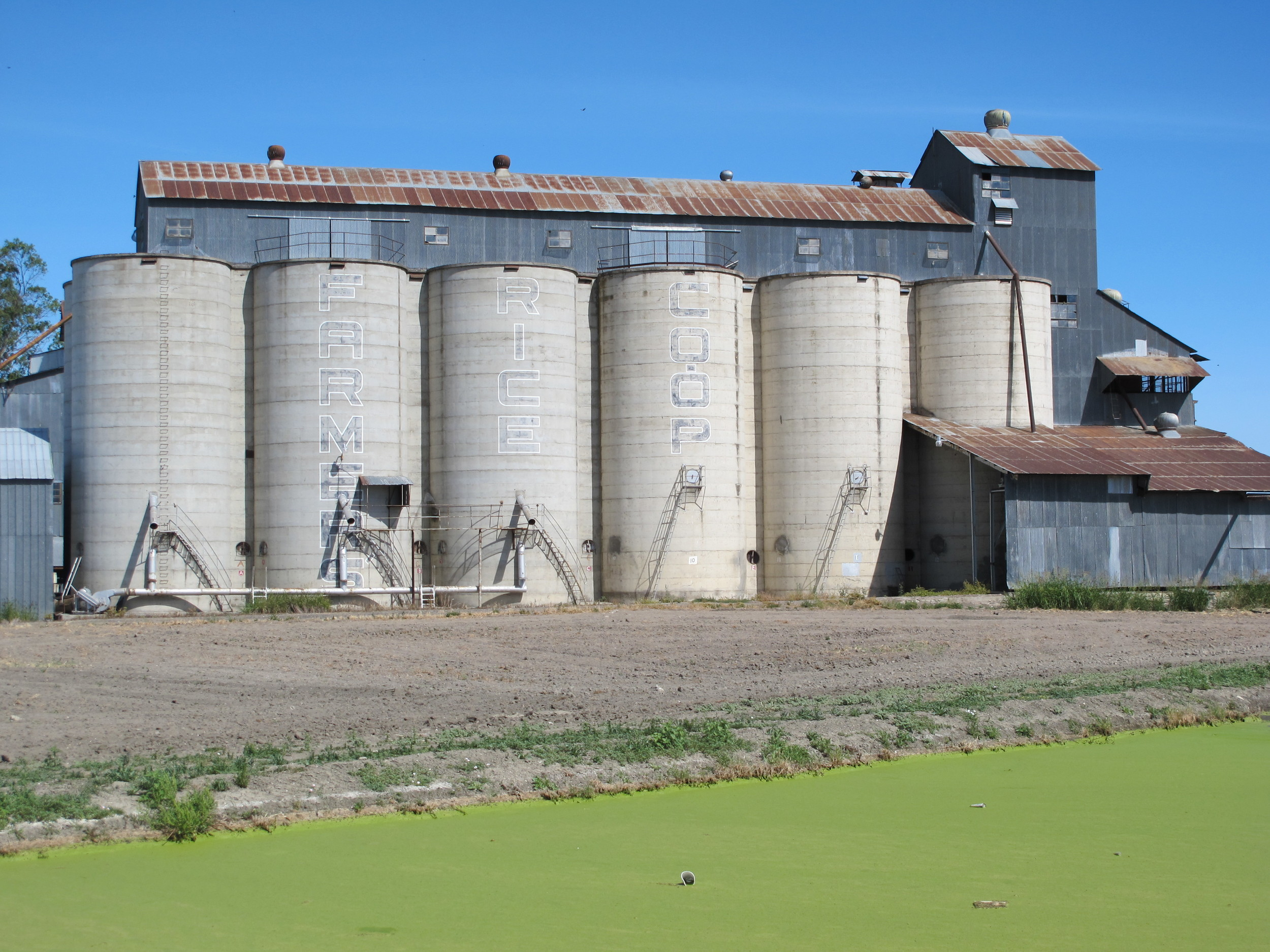 Rice Storage, Central California, USA