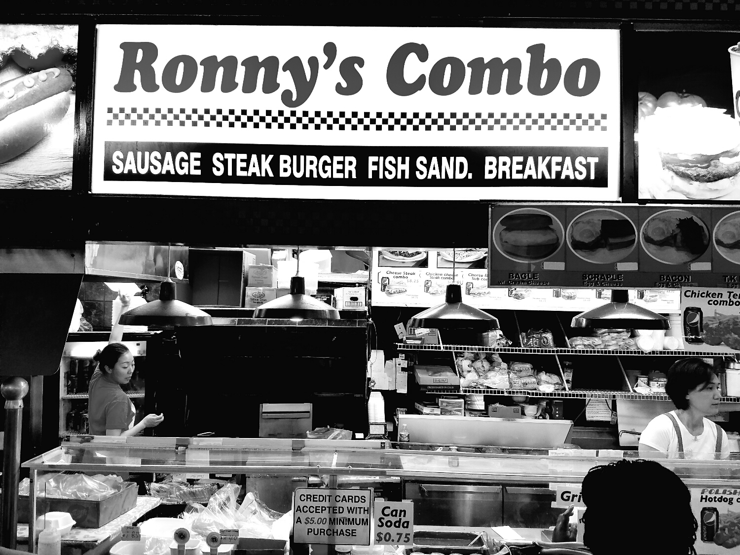 Ronnies has the best chicken cheese steaks.