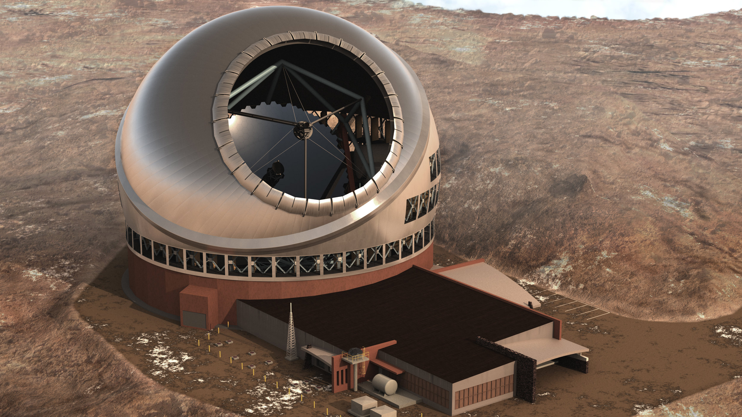 Dr. Fengchuan Liu talks to us about an international project, the  Thirty Meter Telescope  (TMT). He describes the telescope, it's many mirrors, and how he helps manage such a complex project.  Image credit: TMT Observatory Corporation
