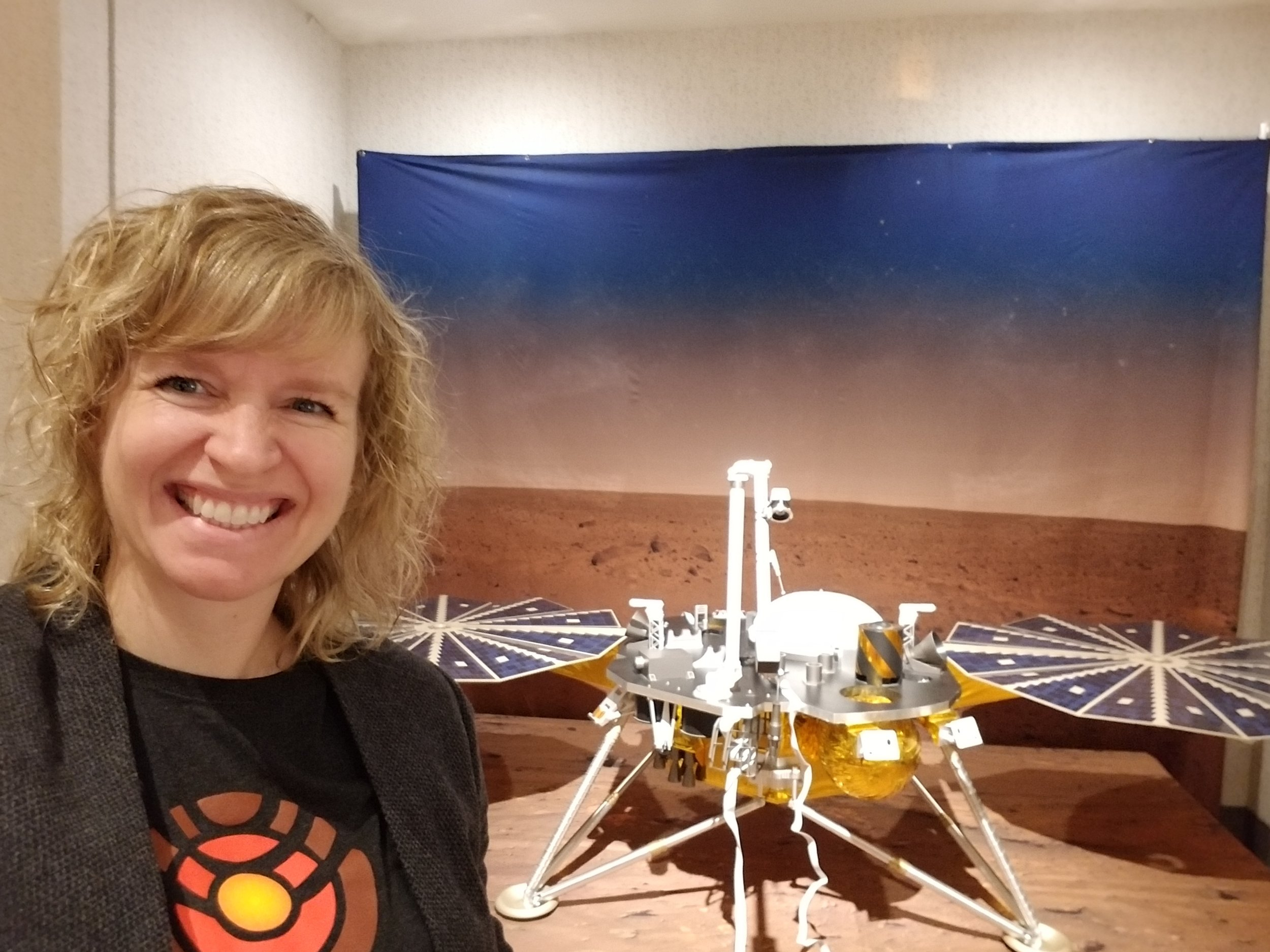 Dr. Ingrid Daubar  returns to the show to tell us about the  InSight  mission to Mars. InSight carries a seismometer and a self-hammering heat probe, and will explore the interior of the planet. She tells us what it was like to be at InSight's launch, and explains how the mission's landing site was selected.