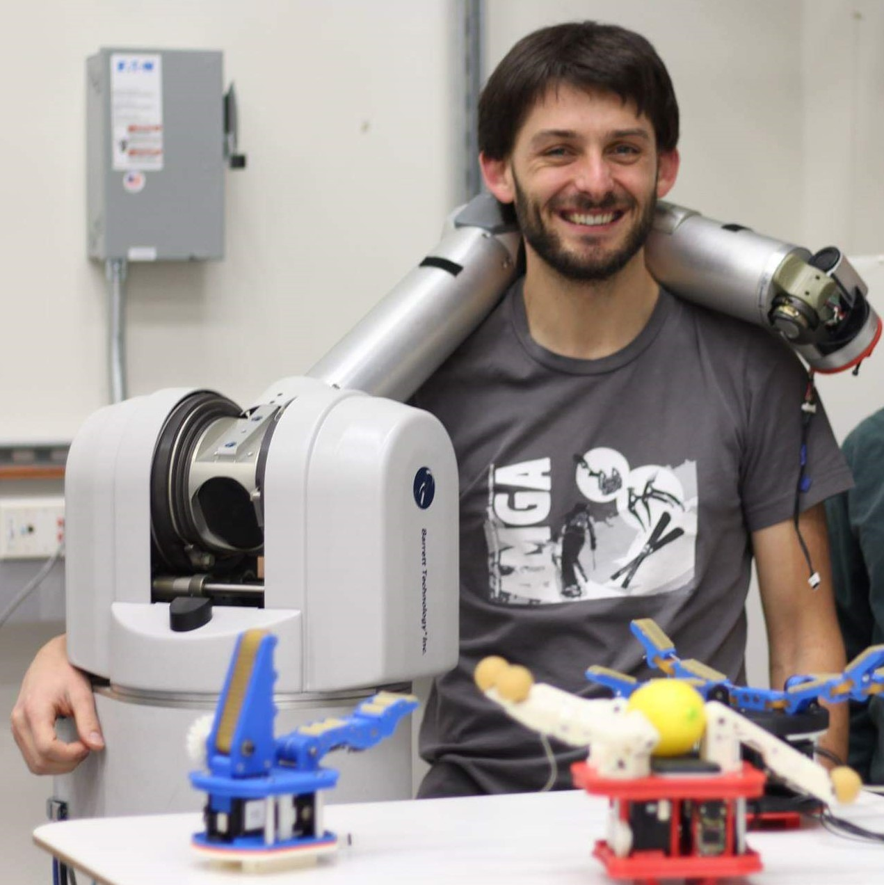 "Dr Spencer Backus  talks about his work at NASA's Jet Propulsion Laboratory. He explains the complexities of trying to design hands for robots. An example of a robot hand is the undersea gripper he worked on, which looks like ""an angry starfish."" He also talks about the benefits and challenges of in-space assembly of spacecraft.    For images of the undersea gripper, go  here !"
