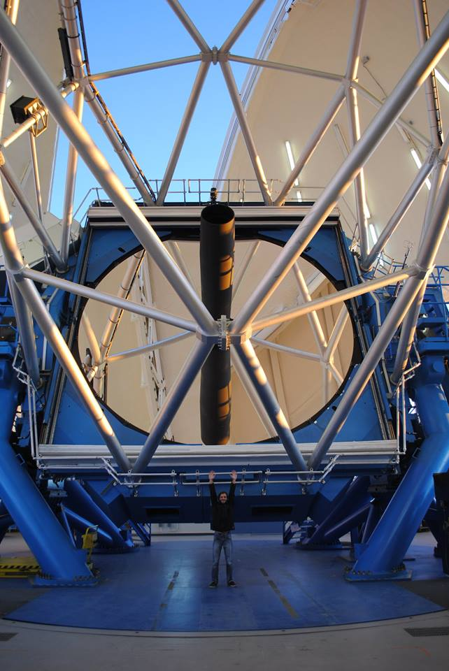 Dr. Michael Marsset  (pictured here at the 8 meter telescope at the Gemini observatory in Hawaii) and his collaborators use the world's biggest telescopes to image asteroids. They combine those images with other data to get shapes of asteroids. These results are comparable with spacecraft images, but are much less expensive. Dr. Marsset talks about new discoveries they have made using this technique.
