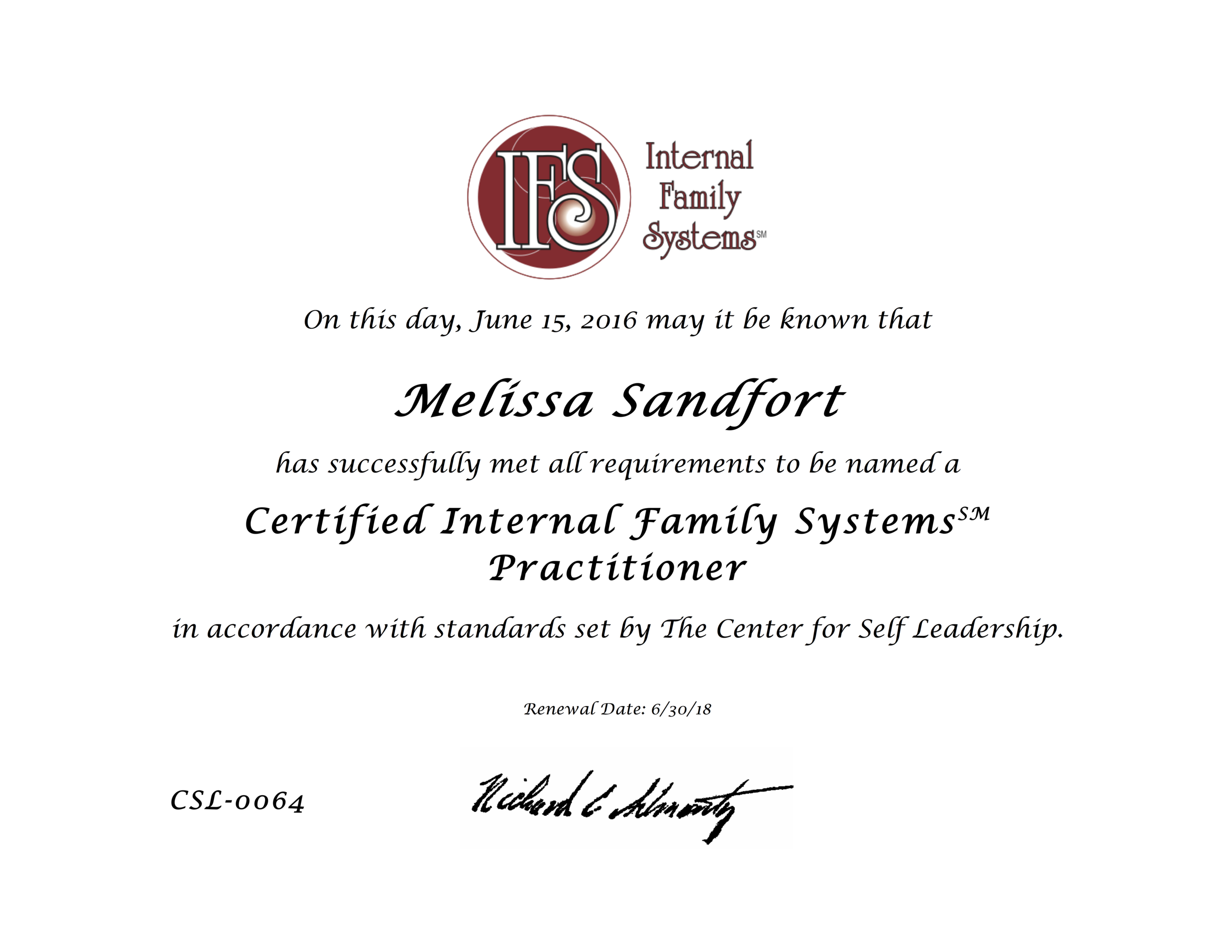 16 IFS Certification.png