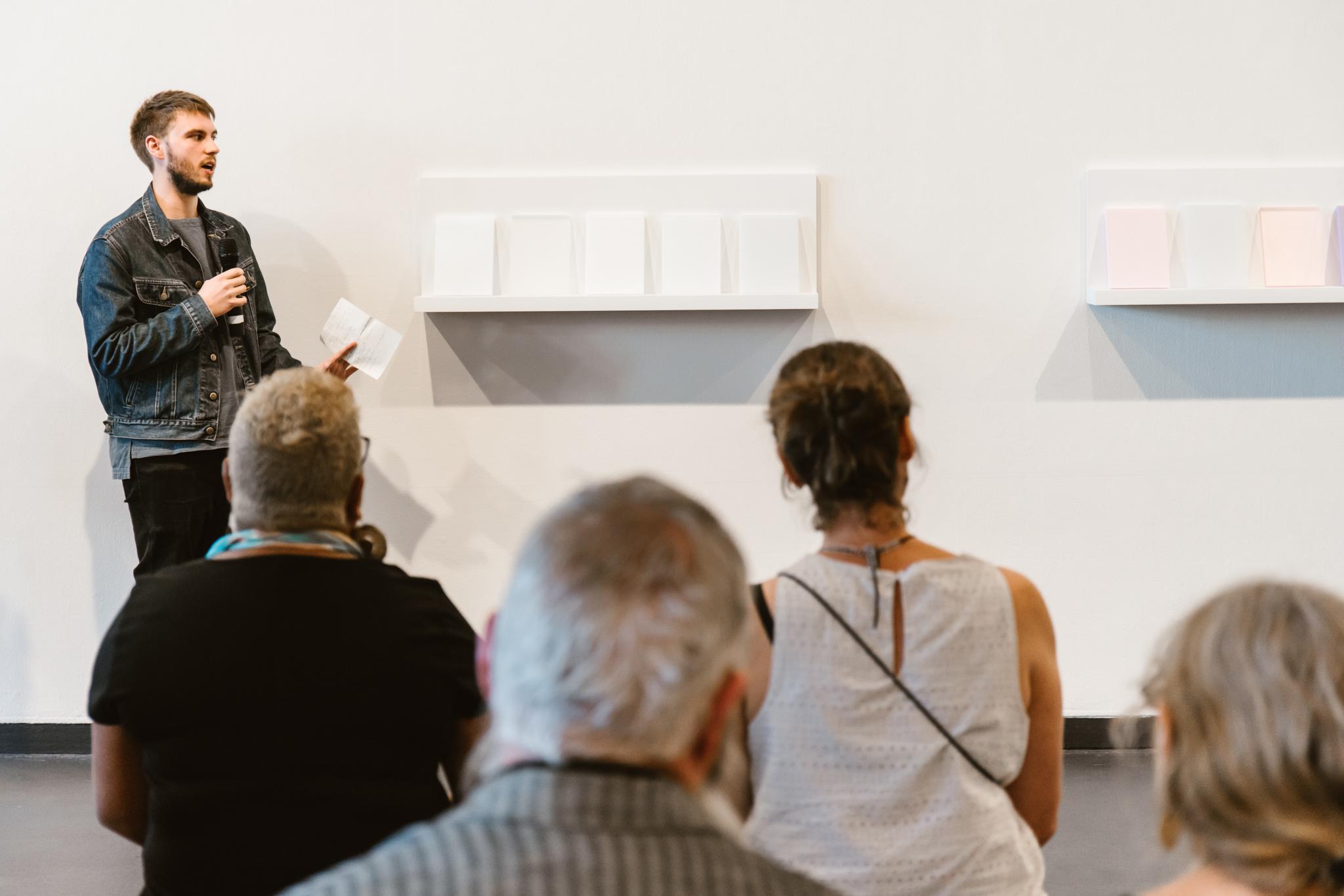 Hatched Open Day, Artist talks. Photo: Susie Blatchford & PICA