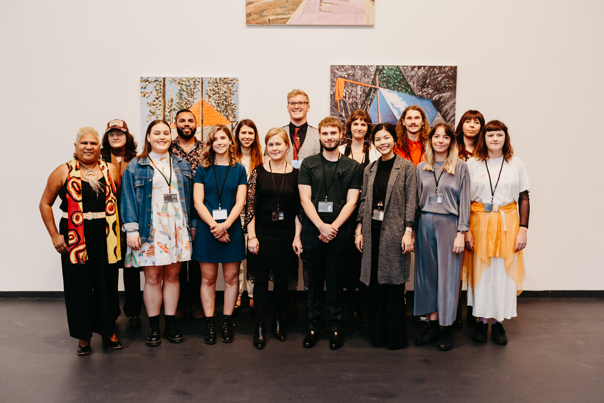 Opening night of Hatched 2019, Hatched artists. Photo: OK Media & PICA
