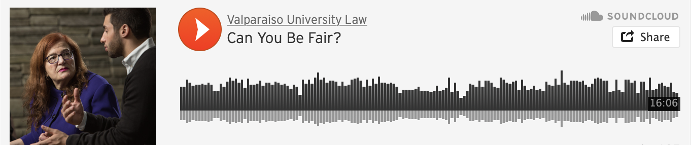 Can You Be Fair? A conversation about the need for transparency and accountability concerning racial bias in the judicial system and in ourselves. Valparaiso University Law School Dean Andrea Lyon and Valparaiso students, Jennifer Lee and Mohammad Faraj, discuss the importance of acknowledging the reality of racial bias in the judicial system and how it impacts law and society.