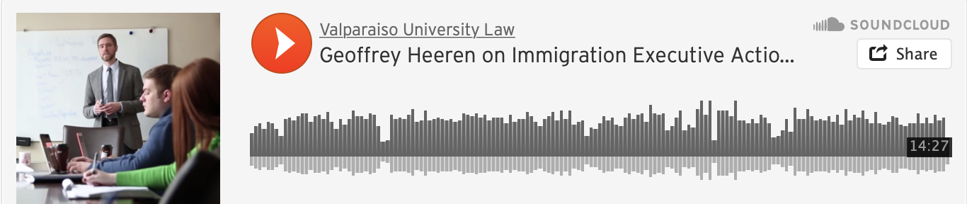 Valparaiso University Law School Professor Geoffrey Heeren and Valparaiso 3L students Mayombo Mbanza and Jeremiah Pangan discuss President Obama's Executive Actions on Immigration, their impact on citizens and undocumented immigrants, and the firestorm of controversy concerning the action.