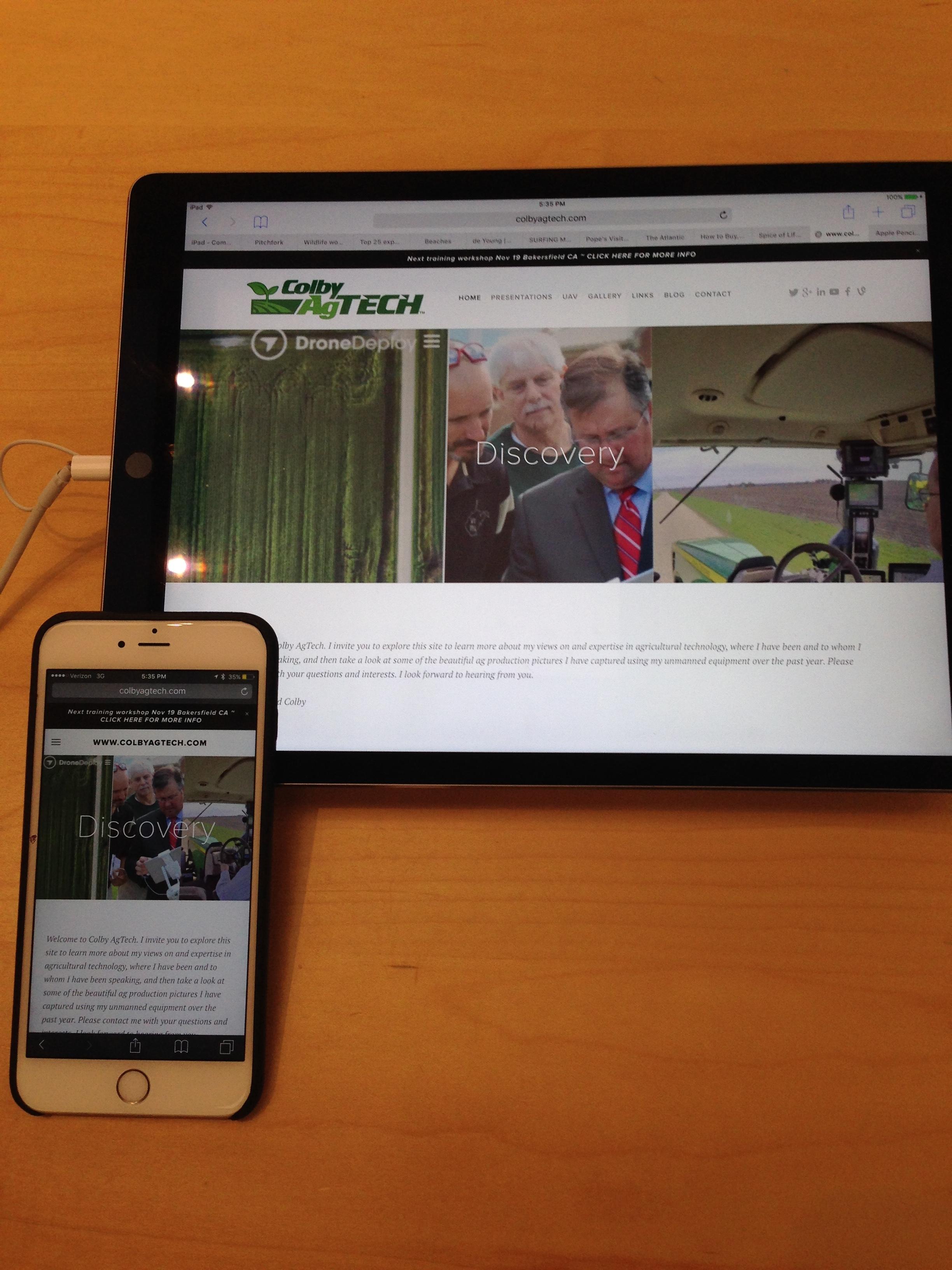 NEW iPad Pro is impressive site sitting next to my iPhone 6 Plus.